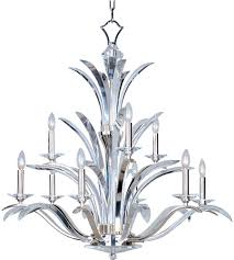 Maxim Chandeliers Maxim 39946bcps Paradise 9 Light 38 Inch Plated Silver Multi Tier