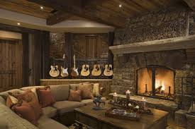 nice warm nuance of the rustic livingroom can be decor with warm