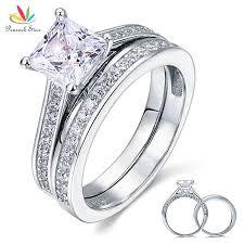 verlobungsringe silber diamant die besten 25 prinzessin cut ringe ideen auf