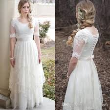 modest wedding gowns discount new modest wedding dresses with sleeves 2017 country