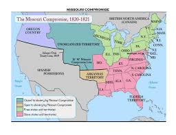 Map Of United States 1820 missouri compromise the compromise and of at map of united states