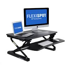 Computer Desk With Adjustable Keyboard Tray Flexispot 35 In W Platform Height Adjustable Standing Desk Riser