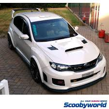 subaru hatchback scoobyworld front lips spoilers side skirts