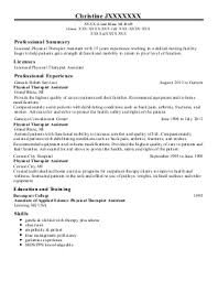 Sample Resume For Physical Therapist Assistant by Physical Therapy Assistant Aide Resume Sales Aide Lewesmr