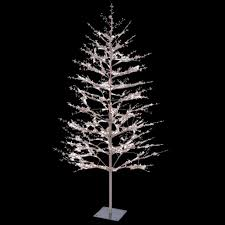 Outdoor Christmas Decorations Home Depot Ge 5 Ft Brown Winter Berry Branch Tree With C4 Color Choice Led