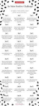 Challenge Explication 30 Day Be More Positive Challenge Be Happier Think Positive