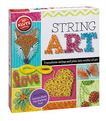 amazon com klutz string art book kit the editors of klutz toys
