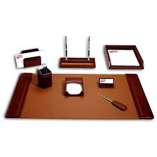 modern desk accessories dacasso sassari leather 8 piece desk set hayneedle