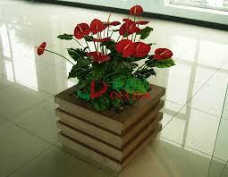 composite flower pots 520 x 520x 526mm antisepsis square planter