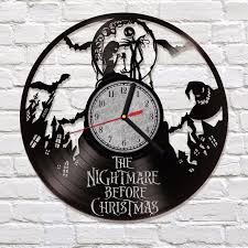 nightmare before vinyl clock decor sally and