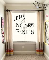 Easy No Sew Curtains Easy No Sew Window Panels Shanty 2 Chic