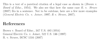 cite citing court cases using the apacite package texnical designs