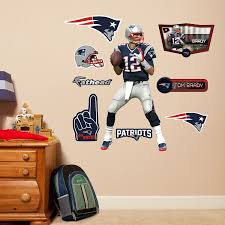 Nfl Home Decor Amazon Com Nfl New England Patriots Tom Brady Fathead Wall Decal