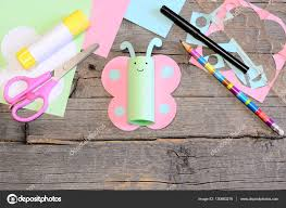 lovely paper butterfly crafts scissors marker glue stick