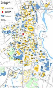 Penn State Parking Map Ncat Campus Map Georgia Campus Map Uncg Campus Map Greensboro
