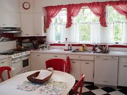 Black And Red Kitchen Curtains by Neoteric Design Red And White Kitchen Curtains Wonderful