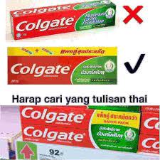 Pasta Gigi Colgate pasta gigi colgate hijau made in thailand airfrov titip barang