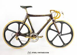 ferrari gold steel vintage bikes colnago c35 ferrari gold collectible road bike