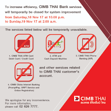 Cimb Clicks Bank Services Will Be Temporary Unavailable