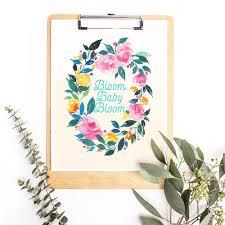 free spring themed watercolor floral printable inkstruck studio