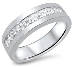 mens 14k white gold wedding bands mens wedding rings white gold with diamonds wedding promise
