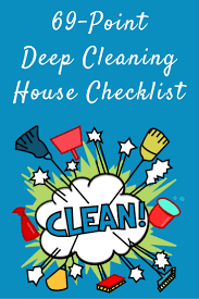 69 point deep cleaning house checklist clean your house like a boss