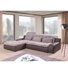 canapé d angle avec rangement canapé d angle gauche convertible avec rangement et têtières relax