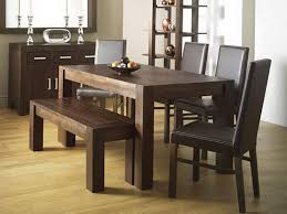 dining table with bench set rustic dining room design with walnut