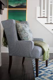 bathroom upholstered wing chair and houndstooth chair
