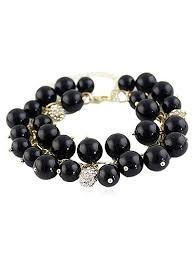pearl beaded bracelet images 2018 faux pearl beaded bracelet with rhinestone black in bracelets jpg