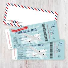 airplane birthday invitation boarding pass and digital airmail