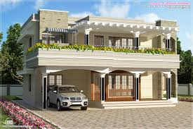 modern flat roof villa sq feet house design plans roof design