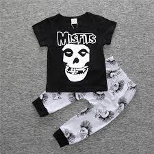aliexpress com buy baby boy halloween punk style suit skull