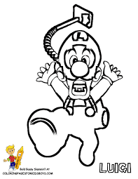 super mario bros luigi coloring pages kids coloring