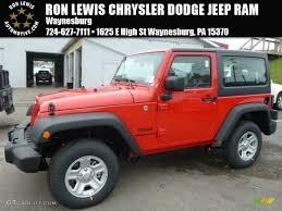 jeep red 2015 2015 firecracker red jeep wrangler sport 4x4 97824512 gtcarlot