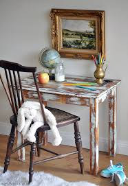 Distressed Table The Painted Hive How To Heavily Distress Furniture And A Diy