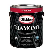 glidden diamond 1 gal pure white flat enamel interior paint and