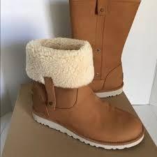ugg s malindi boots black 42 ugg shoes ugg rosalie leather canvas boot sz