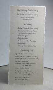 program paper wedding programs on handmade seed paper do it yourself and custom