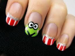 christmas nail art tutorial santa french manicure nails nail
