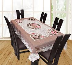buy yellow weavestm designer dining table cover beige net cloth 6