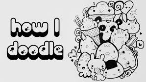 how to draw doodle characters cartoons rysunek youtube