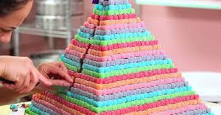 baking guru creates a colorful pyramid gummy cake diy craft projects