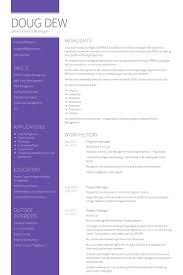 Program Management Resume Examples by Program Manager Resume Samples Visualcv Resume Samples Database