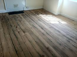 original pitch pine floorboards sanded and sealed by wood floor