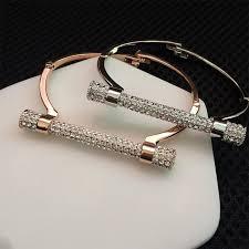 bracelet luxury crystal images 2018 wholesale luxury crystal horseshoe cuff bracelets brand jpg