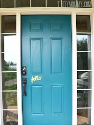 Teal Front Door by Our Diy House 2014 Home Tour The Diy Mommy