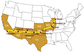 map us highway route 66 route66 road trip directions
