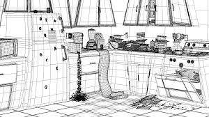 kitchen cartoon black and white kitchenxcyyxhcom dirty kitchen