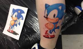 tattoos inspired by video games sonic the hedgehog tattoo com